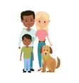Parents and son icon Family design vector image