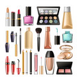 decorative cosmetics for make up big realistic vector image