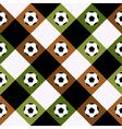 Football Ball Green Brown Chess Board Diamond vector image