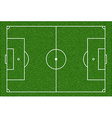 Football playing field vector image