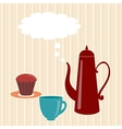 Greeting card with teapot vector image