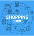 linear shopping guide vector image