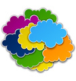 Paper color paper cloud background vector image