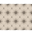 Seamless pattern with compass rose and anchor vector image