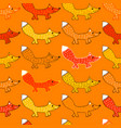seamless pattern with foxes vector image