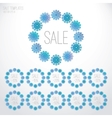 Set of Christmas sale templates vector image