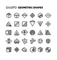 universal black and white geometric shapes vector image