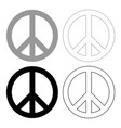 world peace sign symbol icon grey and black vector image