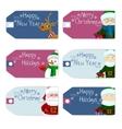 tag christmas set vector image