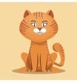 striped cat cartoon design vector image