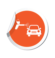 painting of cars ORANGE LABEL vector image