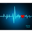 background with heartbeat monitor vector image