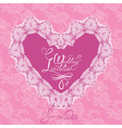 heart lace wedding 380 vector image vector image