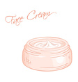 isolated cream jar vector image