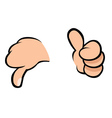 thumbs up thumbs down vector image vector image
