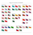 big set of flags of europe vector image
