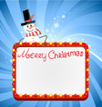 christmas lights with snowman vector image