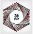 Cinema 3D creative concept banner poster vector image