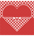 Greeting card with dotted heart vector image