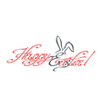 Happy Easter inscription vector image