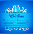medical concept text field vector image