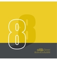 The number 8 vector image