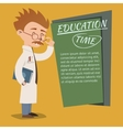 Vintage style Education Time poster design vector image