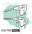 hammer on bright background vector image vector image