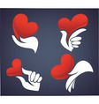 love and hands vector image vector image
