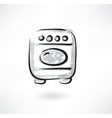 oven grunge icon vector image