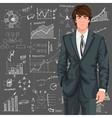 Business man sketch background vector image