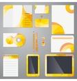 Brand identity mockup template vector image
