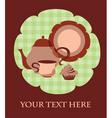 tea cup set vector image vector image