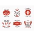 Bakery cafe bistro logo set vector image