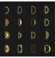 Letter D set vector image