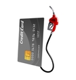 Credit card with gas pump nozzle vector image