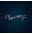 Happy Holidays inscription vector image