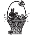 easter woodcut vector image vector image