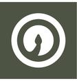 Cobra Snake head volume logo minimalism vector image