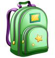 A green schoolbag vector image