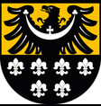 coat of arms of trzebnica county in poland vector image