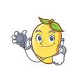 doctor mango character cartoon mascot vector image