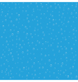 Seamless blue background with water drops vector image
