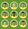 Soccer Game Players Icons Set vector image