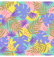 stylish tropical seamless pattern vector image