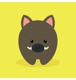 Cute Cartoon wild pig vector image