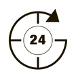 Around the clock icon vector image