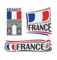 logo for france vector image
