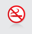 banner no smoking vector image