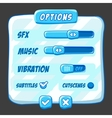 Option menu ice style game buttons vector image